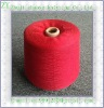 Red color 100% polyester spun yarn 12s
