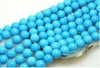 14mm blue round natural loose turquoise beads