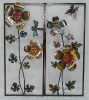 folk art,flower arrangement,metal flowers wall art