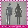 Custom mirror toilet sign