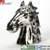 15 inch wholesale silver ceramic horse decoration