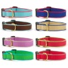 Multi color bamboo webbing dog collar&leash