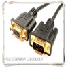 DB15 male to female M/F VGA Extension cable/Gold plated vga cable w/2 ferrits