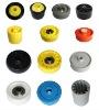 JS HDPE conveyor roller bearing house, Plastic wheel