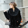 Ladies' Cheap Winter Coats Fur Clothing with real Fox Fur Collar Genuine Rex Rabbit Fur Jacket #HD-77
