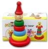 wood toy clown tumbler toys