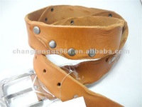 Genuin leather belts wolf leather belts