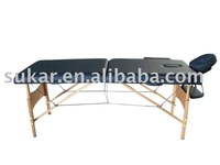 adjustable stationary beech massage bed