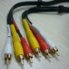 Gold-Plated 1-RCA Composite Video 2-RCA Stereo Audio AV Cable