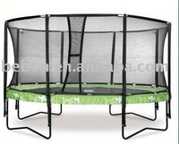 Big Oval Trampoline(4.9m*3.1m) With Safety Enclosure