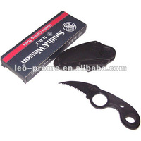 Survival knife blade for camping