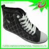 High cut PU canvas shoes 2012