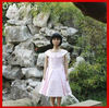 Wholesale Custom Short sleeve satin girl dress