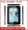 "2012 Newest! 7"" 3g phone mid A70 Capacitive Android 2.3 Call UP Tablet PC MTK6573 Dual Core GPS"
