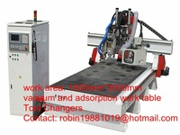 new 1500mm*3000mm cnc carving machine for furniture with vacuum and tool changers