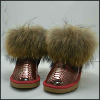 Newest designer fur snow boot women brand snow boot