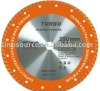 diamond saw blade with turbo blades