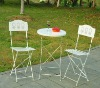 outdoor steel chair and table