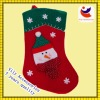 Manufacturers sales red Christmas socks with snow and snowman