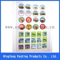 OEM design printed adhesive sticker