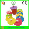high quality with cute design silicone tea cup cover