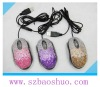 colorful crytal bling laptop mouse/wired pc mouse