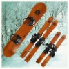 Traditional Heirloom Snowboard/Snow Skis With Well-chosen High Quality Solid Beech Wood
