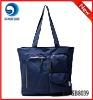 blue canvas shopping bag/ ladies' canvas handbag