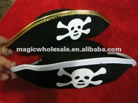 FREE SHIPPING MIN.ORDER IS $18(MIX ORDER IN THE HALLOWEEN&CHRISTMAS)5PCS/PACK CARIBBEAN PIRATE CAPTAIN FLAT HAT HALLOWEEN THING