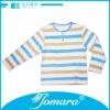 Long sleeve O neck cotton stripe 2013 casual blouse