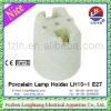 LH10-1 E27 4A 250V White New Durable Glazed Ceramic/Porcelain Lampholder