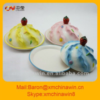 Colorful ceramic ice-cream HAM dish