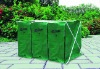 Garden leaf collection composter bins