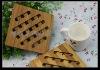 solid bamboo fish shap hot mat