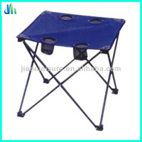 Sand folding table with four cup holders