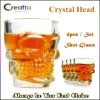 New Arrival Novelty Crystal Head Shot Glass 4pcs/Set Creative Wiskey Wine Shot Glass Cup