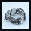 Antique silver rhinestone alloy bracelet & bangles
