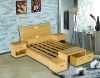LONGBANG bamboo veneer bedroom furniture beds