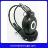 MP3 headphones with inserted card and FM