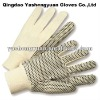 Hawk Large Men's Cotton PVC dotted Work Gloves
