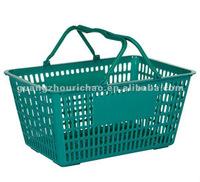 HDPE supermarket hand shopping basket