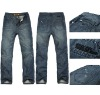 Vintage brand jeans fashion jean 100% cotton pants with embroidery words for men---jeans label