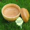 Natural type bamboo salad bowl