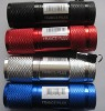 promotion aluminum 9-LED flashlight
