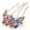 fashion crystal wedding flower hair clip