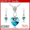 2012 newest trendy color rhinestone necklace set