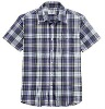 2012 Men's Iron Free Cotton Plaid Short Sleeve Shirts