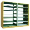 wood guard board double column double-sided bookshelf (MY--84)