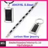 carbon fiber fashion jewelry set