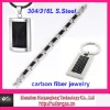 carbon fiber fashion jewelry set